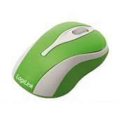 LogiLink optische USB-Maus Mini mit LED - grün LEDs im Scrollrad - USB-Anschluss - Plug and Play