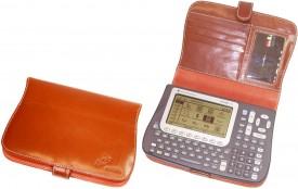 CalcCase - Schutztasche - für TI-Voyage 200 - Rindsleder - braun