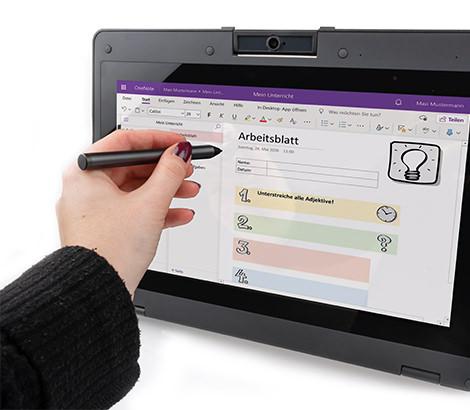 Integrierter Stift für einfache Bedienung
