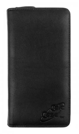 CalcCase - Schutztasche - Exklusiv - mit Geschenkbox - schwarzes Nappaleder