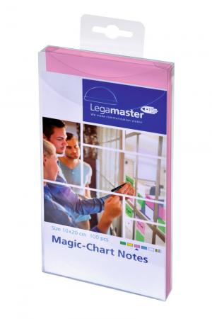 Legamaster Magic-Chart Notes, 10x20cm 100 Stück, rosa