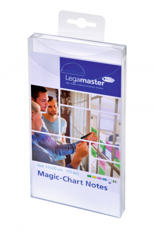 Legamaster Magic-Chart Notes, 10x20cm 100 Stück, weiß