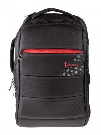 BESTLIFE C Plus Business Trolley Rucksack für Laptop bis 15,6 Zoll USB & Type-C schwarz