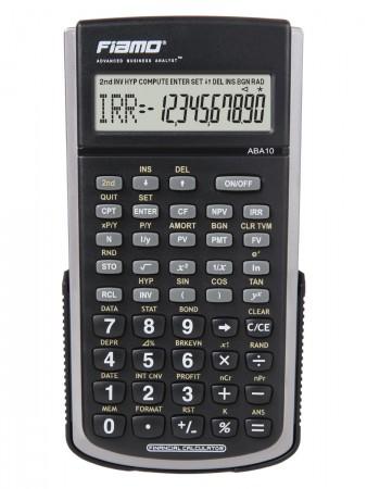 Fiamo ABA 10 BK - Finanzmathematischer Rechner Batteriebetrieb - 10+2 Stellen - 120 Funktionen