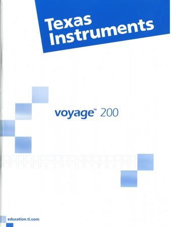 Kurzanleitung französisch für Voyage 200 65 Seiten
