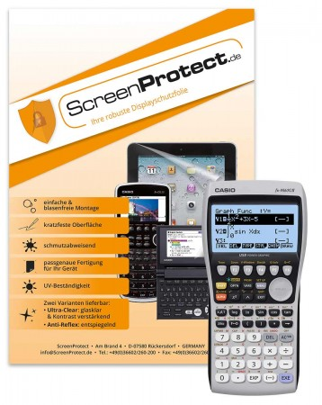 ScreenProtect Displayschutzfolie AntiReflex für Casio FX-9860GII/SD
