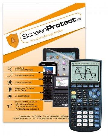 ScreenProtect Displayschutzfolie AntiReflex für für TI-83 Plus