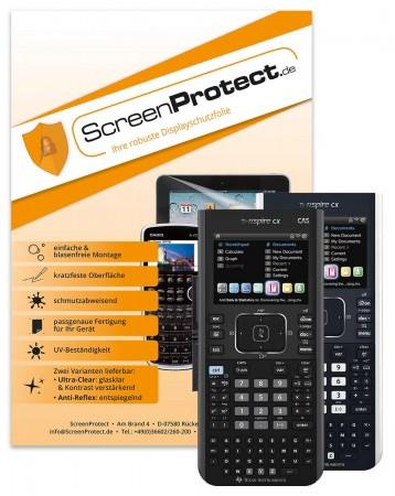 ScreenProtect Displayschutzfolie UltraClear für TI Nspire CX und CAS-Modell ) Folie+Microfasertuch
