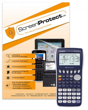 ScreenProtect Displayschutzfolie AntiReflex für Casio FX-9750GII/SD