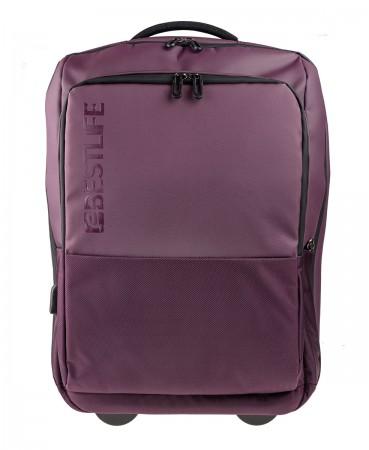 BESTLIFE Neoton Business Trolley Rucksack für Laptop USB lila