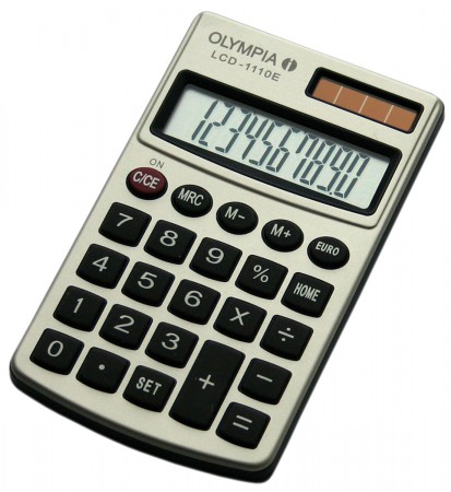 Olympia LCD-1110 E - Taschenrechner - metallic
