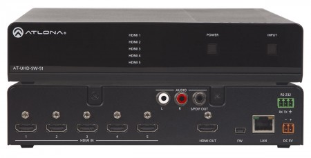 Atlona AT-UHD-SW-51 - HDMI-Switcher 5x1