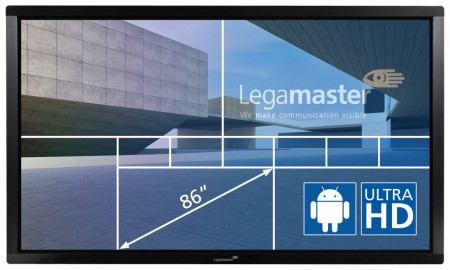 "Legamaster e-Screen ETX-8610UHD - 86"" Touch-Display - black"