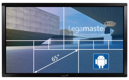 "Legamaster e-Screen ETX-6510UHD - 65"" Touch-Display - black"