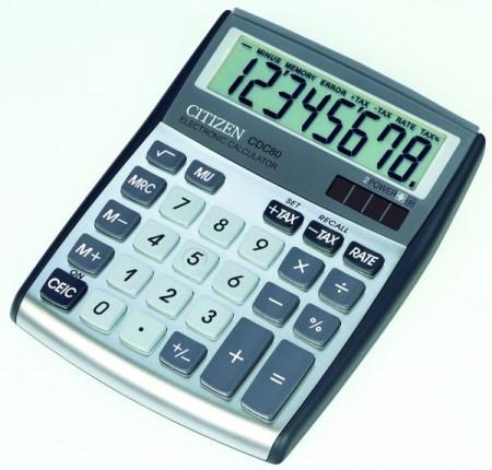 Citizen CDC 80 WB - Taschenrechner - weiß/grau