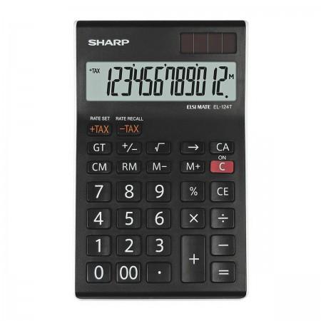 Sharp EL-124 T WH - anzeigender Tischrechner