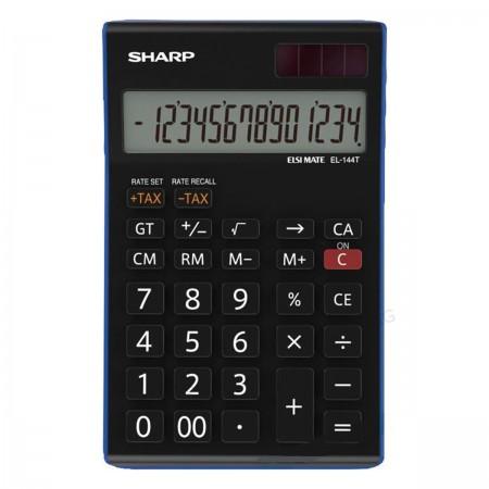 Sharp EL-144 T BL - anzeigender Taschenrechner