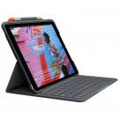 Logitech Slim Folio - Tastatur und Foliohülle - Bluetooth - für Apple 10.2inch iPad - 7/8 Gen
