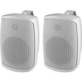 MONACOR WALL-06T/WS 2-Wege-ELA-Lautsprecherboxen-Paar, weiß