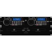 IMG STAGELINE CD-292USB Professioneller DJ-Dual-CD- und MP3-Spieler