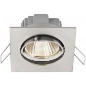 MONACOR LDSQ-755C/WWS LED-Einbaustrahler, eckig, 5W
