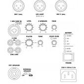 MONACOR SPEECH-104D Professionelles Rednerpult mit integrierter 2-Kanal-Multi-Frequenz-Empfängereinh