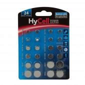 Ansmann HyCell - Knopfzellen Set 24 Stück - 2 Knopfzellen je Typ