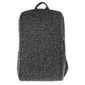 BESTLIFE Calpe TravelSafe Rucksack für Laptop bis 15,6 Zoll USB schwarz
