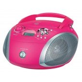 Grundig RCD 1445 USB - CD-Radio - pink/silber