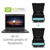 Scieneo Class Kit mit Formcase T16 MXL  scieneo.amplio VI Notebook Pentium und 2x Koffer