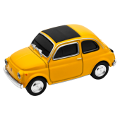 """GENIE USB-Stick """"Fiat 500"""" Oldtimer gelb, 16GB"""