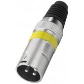 MONACOR XLR-207P/GE XLR-Stecker, 3-polig