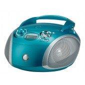 Grundig RCD 1445 USB - CD-Radio - aqua/silber