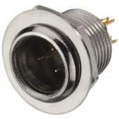 MONACOR XLR-308/P Miniatur-XLR-Einbaustecker, 3-polig