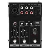 IMG STAGELINE MMX-11USB 2-Kanal-Audio-Miniatur-Mischpult