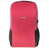BESTLIFE Relleu TravelSafe Rucksack für Laptop bis 15,6 Zoll USB rot
