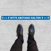 Abstandsaufkleber lang für Teppiche Markierung von Warteschlangen/Sicherheitsabständen