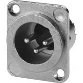 MONACOR XLR-833D/P XLR-Einbaustecker, 3-polig