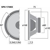MONACOR SPH-174KE Hi-Fi-Tiefmitteltöner, 50 W, 8 Ω