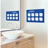 Hinweisschild für allgemeine Händewasch-Regeln A3 die 8 wichtigsten Regeln zum Händewaschen, sk