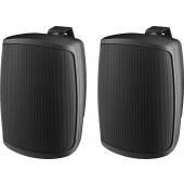 MONACOR WALL-04/SW 2-Wege-Lautsprecherboxen-Paar, 30 W, 8 Ω, schwarz