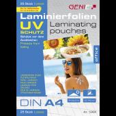 LAMINIERTASCHEN A4, UV-SAFE, 125 Mic.