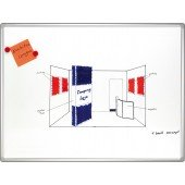 FRANKEN WWT PRO emailliert HxB 90x120 magnetisch beschreibbar mit WWT-Markern abwischbar Alurahmen