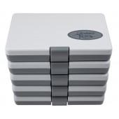 Dynatech 5er Set Aufbewahrungsboxen, grau,