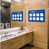 Hinweisschild für allgemeine Händewasch-Regeln A2 die 8 wichtigsten Regeln zum Händewaschen, sk