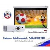 Optoma WM-Paket 2 - Heimkinoprojektor und Leinwand