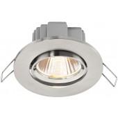 MONACOR LDSR-755C/WWS LED-Einbaustrahler, rund und flach, 5W