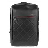 BESTLIFE  TravelSafe Rucksack für Laptop bis 15,6 Zoll USB schwarz