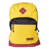 BestLife Schulrucksack für Laptop und Tablet bis 15,6 Zoll Smartphonefach gelb / rot / schwarz