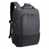 BESTLIFE Neoton TravelSafe Rucksack für Laptop bis 15,6 Zoll USB grau